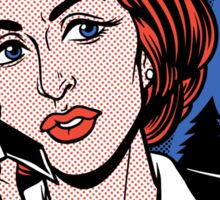 FBI Agent // Scully XFiles Lichtenstein  Sticker
