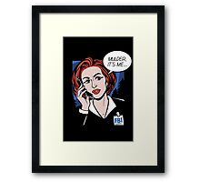 FBI Agent // Scully XFiles Lichtenstein  Framed Print