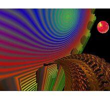 Golden Bridge to the Rainbow SkyScraper Photographic Print