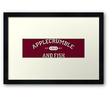 Applecrumble and Fish Framed Print