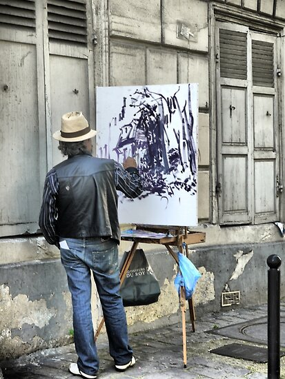 A Paintbrush in Montmartre by Larry Lingard-Davis