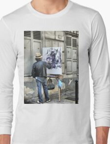 A Paintbrush in Montmartre Long Sleeve T-Shirt