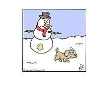 Snowman prank Photographic Print