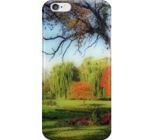 Autumn In A Beautiful Park iPhone Case/Skin