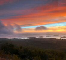 Sunrise From Cadillac Mountain 2 by Stephen Vecchiotti