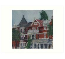 Houses at Dupont Circle Art Print