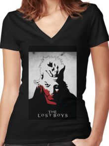 The Lost Boys - David Women's Fitted V-Neck T-Shirt