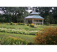 Scovill Zoo Gazebo, Decatur IL Photographic Print