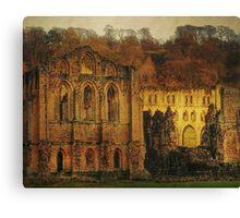 The Ruins Of Rievaulx Abbey Canvas Print