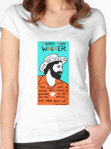 Jerry Jeff Walker Pop Folk Art Women's Fitted Scoop T-Shirt