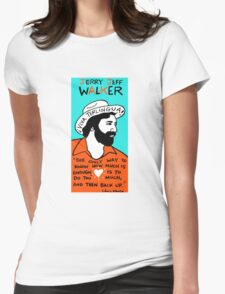 Jerry Jeff Walker Pop Folk Art Womens Fitted T-Shirt