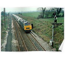 """Up"" china clay train near Bruton, Somerset, UK. 1970s Poster"