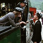 Time for a chat on the Ffestiniog, Wales, UK, 1970s by David A. L. Davies