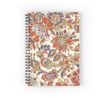 Middle Eastern Floral Pattern Spiral Notebook