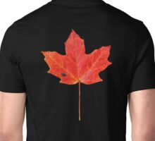 Solitary Red maple Leaf on Shale Unisex T-Shirt