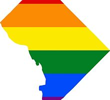 LGBT Flag Map of Washington, D.C.  by abbeyz71