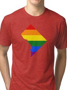 LGBT Flag Map of Washington, D.C.  Tri-blend T-Shirt