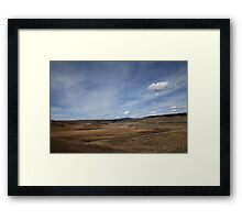 Yellowstone Landscape Framed Print
