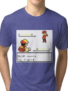 Pokemon Generation I - Blue wants to fight! Tri-blend T-Shirt