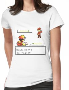 Pokemon Generation I - Blue wants to fight! Womens Fitted T-Shirt