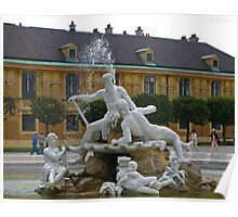 A Fountain at Schönbrunn Palace Poster