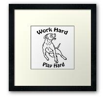Work Hard, Play Hard Framed Print