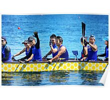 Dragon boat team from Japan Poster