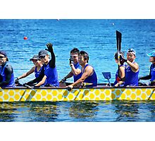 Dragon boat team from Japan Photographic Print