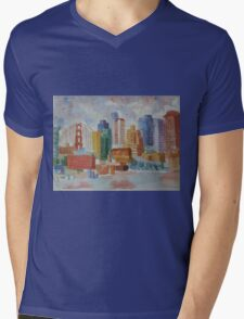 San Franciso II Mens V-Neck T-Shirt