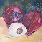 Red Onions And Garlic by JennyArmitage