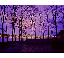 Gasworks Gloaming Photographic Print