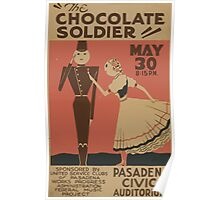 WPA United States Government Work Project Administration Poster 0919 The Chocolate Soldier Pasadena Civic Auditorium Poster
