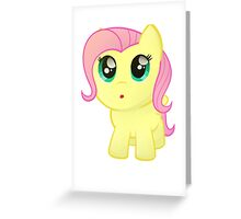 Little Chubby Fluttershy Greeting Card