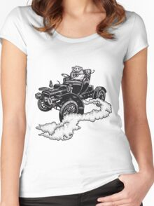 Old Time Rodent T-shirt Women's Fitted Scoop T-Shirt