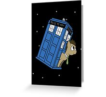 The Doctor and his TARDIS Greeting Card