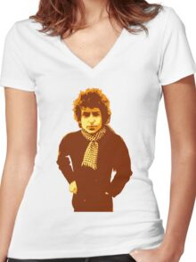 Bob Dylan Blonde on Blonde Women's Fitted V-Neck T-Shirt