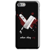 When They Cry iPhone Case/Skin