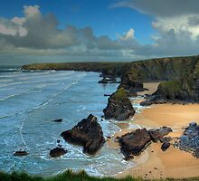Bedruthan Steps Cornwall by David Wilkins