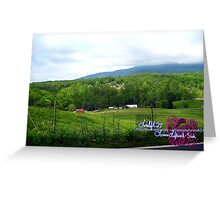 foggy mountain Greeting Card
