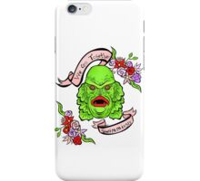 Gill Man Creature From The Black Lagoon  iPhone Case/Skin