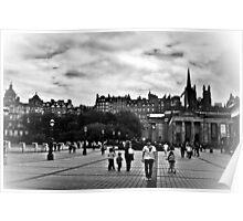 The City Of Edinburgh In B&W Poster