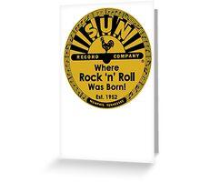Sun Records T-Shirt Greeting Card