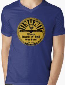 Sun Records T-Shirt Mens V-Neck T-Shirt