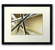 Another whisk V (yellow) Framed Print