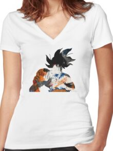 Son Goku Women's Fitted V-Neck T-Shirt