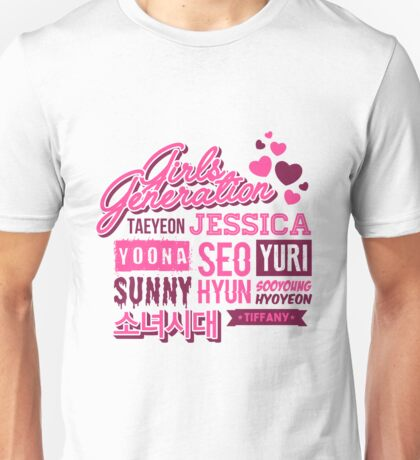 SNSD Girls' Generation Collage Unisex T-Shirt