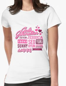 SNSD Girls' Generation Collage Womens Fitted T-Shirt