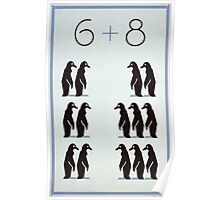 WPA United States Government Work Project Administration Poster 0235 Six Plus Eight Penguins Poster