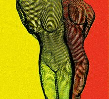 Body Art 2 in Red and Yellow by Igor Shrayer