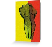 Body Art 2 in Red and Yellow Greeting Card